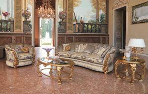 Cleos, 3 plazas sofá adecuado para ambientes clásicos