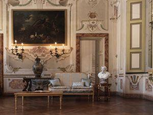 Creola sofá, Sofá tallado, con un estilo lujoso.