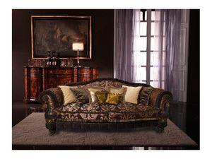 Cristina, Sofá de lujo cubierto de seda, hechos a mano