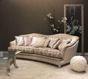 Denver Capitonnè Sofá, Sofá acolchado para sala de estar de lujo clásico
