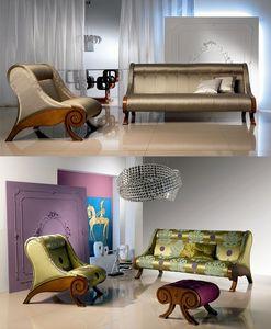 DI06 Glamour, Sofá marco de madera, recubiertas personalizable