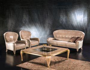 DI34 Butterfly, Sofá clásico, 3 asientos, tapicería de cuero, para sala de estar