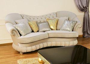 Donatello, Sofás acolchado, respaldo acolchado, de estilo clásico