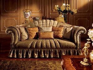 Emanuela sofa, Sofá de tres plazas con brazos curvados