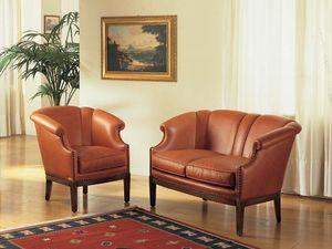Emma Sofa, Sofá clásico de lujo para salas de estar y hotel