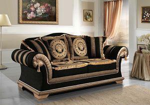 EMPORIO Sofá, Sofá clásico tapizado en tela elegante