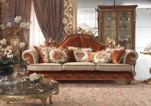 Esimia Sofá, Sofá con decoraciones hechas a mano.