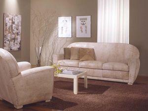 Geo Sofa, Sofá de cuero para la sala de estar y sala de espera