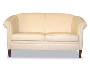 Helmond Sofa, Sofá de estilo clásico, tapizado en cuero, para la recepción