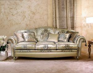 Ibisco, Sofá clásico en terciopelo decorado