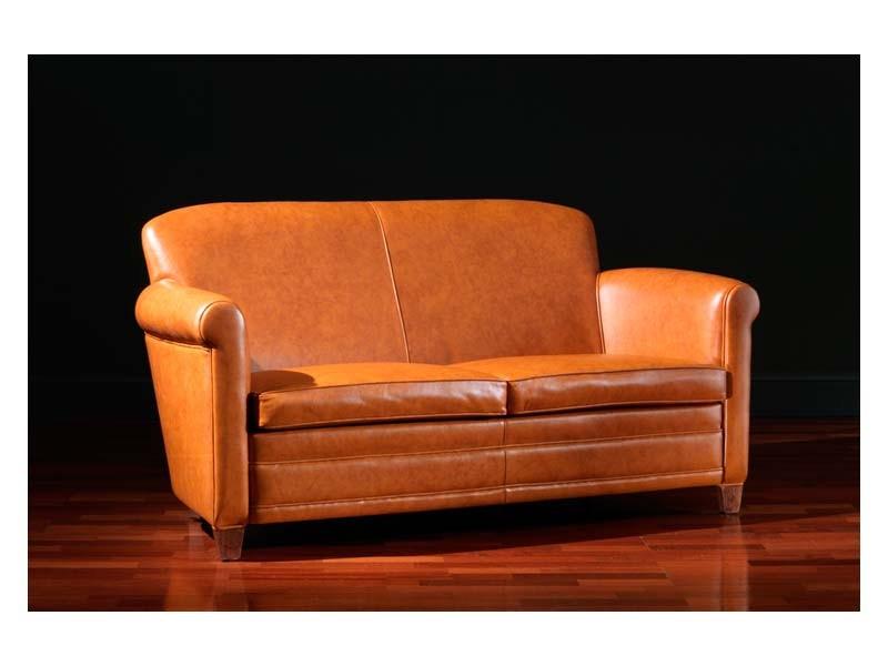 Ippolito Sofa, Sofá de cuero, 30s y 50s estilo