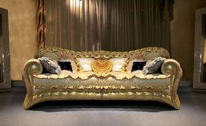Joker, Sofá acolchado tapizado, hecho a mano, hecho en Italia