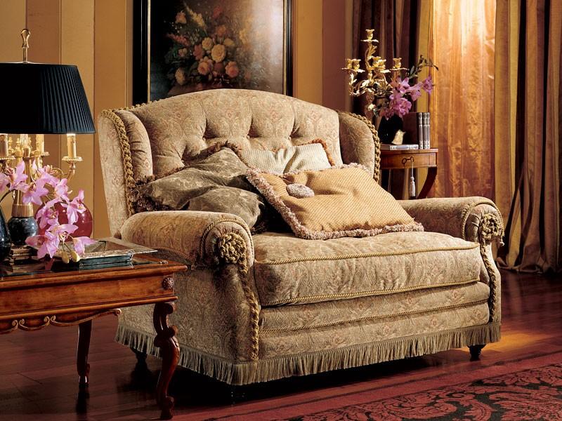 Katerina sofa, Sofá de dos plazas, estilo clásico de lujo