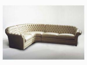 Lloyd Angular Sofa, Sofá de la esquina para grandes salas de estar, estilo clásico