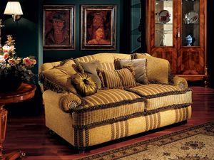 Marcus sofa, Sofá de lujo con brazos bajos, estilo clásico