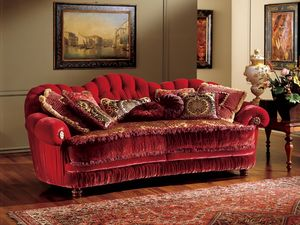 Marika sofa, Sofá de estilo clásico con tapicería acolchada