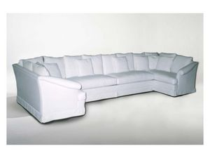 Marlene Angular Sofa, Sofá de la esquina, de estilo clásico, en la tela