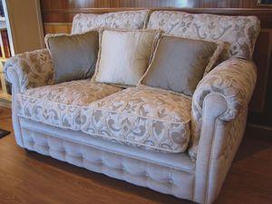 Melody, Sofá clásico para la sala de estar, acolchado cómodo