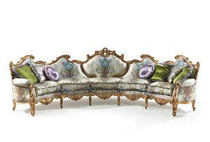 Millionaire Uno B/1803/1/5, Mano tallado sofá, para Hotel