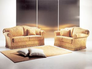 Mozart, Sofá artesanal, de alta calidad, para la sala de estar