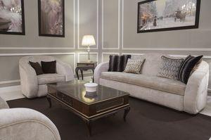 New York divano, Sofá redondo, tapizado en tela