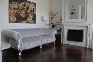 Oceano, Sofá nuevo barroco con relleno acolchado.
