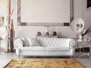 Omero, Sofá clásico con estilo acolchado acolchado