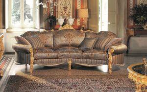 Opera sofá de 3 plazas, Elegante sofá de tres plazas, tallada a mano, que ofrece refinamiento evocativa incomparable