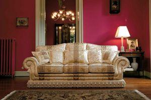 Paloma, Sofá de estilo clásico y lujoso, hecho a mano