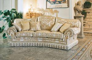Paloma ring, Sofá semicircular, de estilo clásico y lujoso