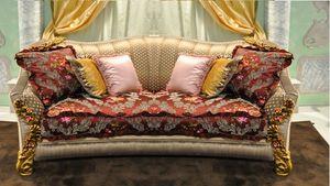 Primavera sofá de 2 plazas, Sofá tallado a mano clásico, de elegantes salones