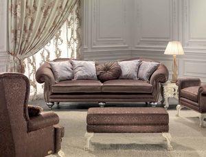 Protagonista, 3 plazas sofá de la sala de estar, clásico, detalles elegantes