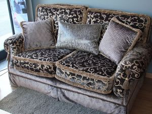 Riva, 2 plazas sofá para la sala de estar clásica, lujoso tejido