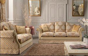 Royal, 2 plazas sofá para salas de estar, clásico, con resortes de acero