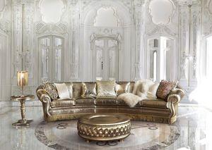 Florida, Sofá con adornos de oro, por estancia clásica