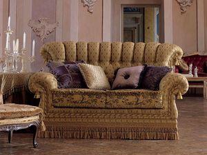 Sara, 2 plazas sofá de estilo clásico, acolchado, para sala de estar