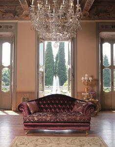 Segesta, Sofá con abotonado volver adecuado para salas de estar
