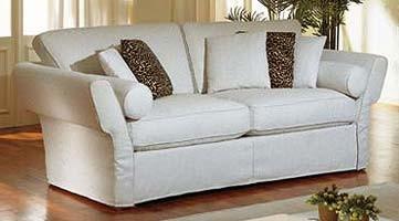 Shine Sofa, Sofá tapizado en cuero marrón, para la sala
