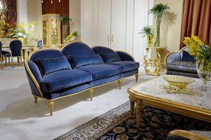 Sofá 4970 estilo Luis XVI, Sofá de estilo clásico Luis XVI