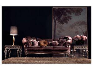 Valeria sofa, Sofá clásico de lujo, tallado a mano, para la oficina