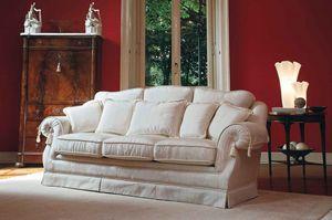 Victoria, Sofá de lujo clásico, para salas de estar finos