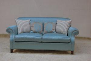 Tamigi, Sofá clásico en tela azul claro