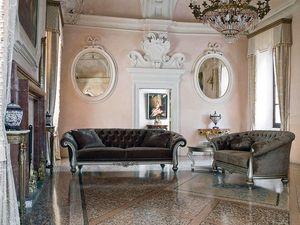 ATENA sofa 8413L, Sofá de estilo clásico con dos o tres asientos, acolchado