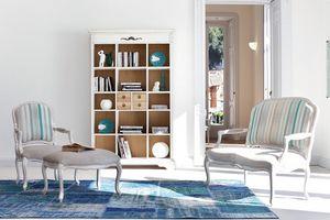 BARLOW Art. 1545, Sofá de dos plazas lacado de estilo clásico, para salas de estar y oficinas