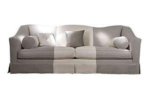 Beniamino, Sofá con tapicería de tela extraíble