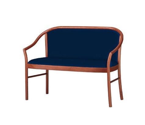 C12, Sofá clásico en madera de haya, para salas de espera