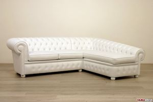 Chesterfield con chaise longue, Sofá Chester con dormeuse