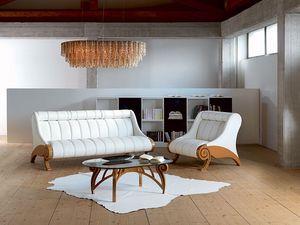 DI09 Contemporary, Sofá tapizado, reposacabezas ajustables en altura