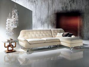 DI11 Cherubino sofá, Corner modular Sofás con la península, acolchada con poliuretano