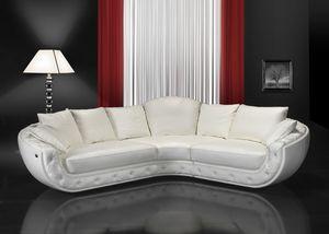 Fitzgerald, Esquina sofá de la esquina cubierto de cuero, hecho a mano